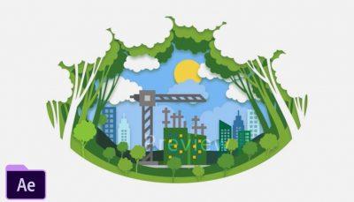 پروژه افترافکت ساختمان های سبز